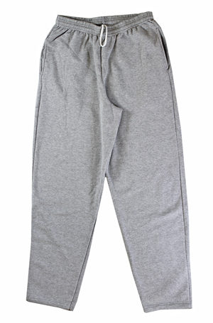 RGRiley | Mens Heather Grey Fleece Sweatpants | Slightly Irregular