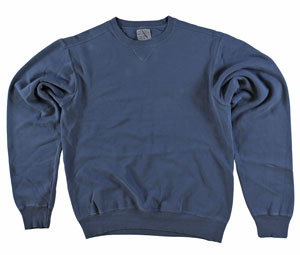 RGRiley | Adult Bulk Denim Blue Garment Dyed Sweatshirts | Irregular