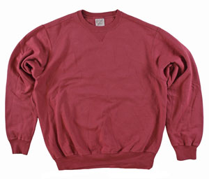 RGRiley | Mens Merlot Garment Dyed Crew Neck Sweatshirts | Irregular