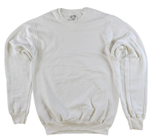 RGRiley | Mens Natural Garment Dyed Crew Neck Sweatshirts | Irregular