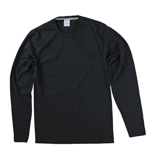 RGRiley | Port & Company Mens Black Long Sleeve T-Shirts | Closeout