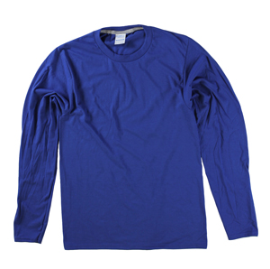 RGRiley | Port & Company Mens True Royal Long Sleeve T-Shirts | Closeout