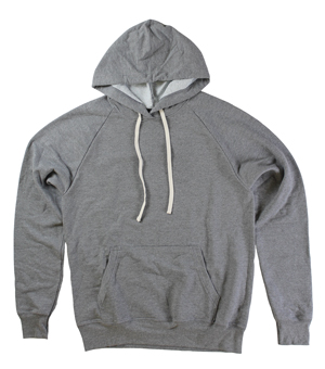 RGRiley | Mens Grey French Terry Pullover Hoodies | Slightly Irregular