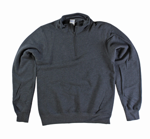 RGRiley | Mens Charcoal 1/4 Zipper Mock Neck Sweatshirts | Closeout