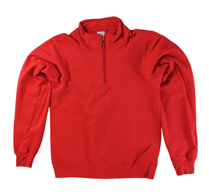 RGRiley | Mens Red 1/4 Zipper Mock Neck Sweatshirts | Closeout