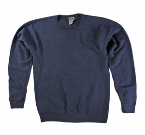 RGRiley | Mens Comfort Wash Anchor Slate Crew Sweatshirts | Irregular
