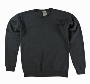 RGRiley | Mens Comfort Wash Black Crew Sweatshirts | Irregular
