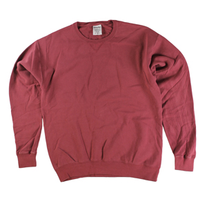 RGRiley | Mens Comfort Wash Cayenne Crew Sweatshirts | Irregular