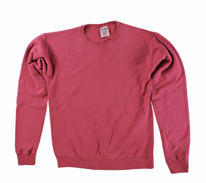RGRiley | Mens Comfort Wash Crimson Fall Crew Sweatshirts | Irregular