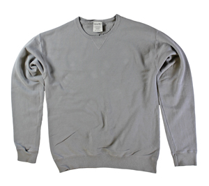 RGRiley | Mens Comfort Wash Concrete Grey Crew Sweatshirts | Irregular