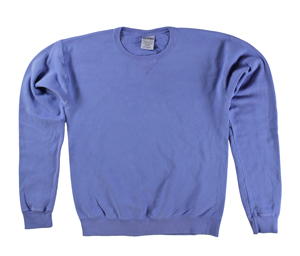 RGRiley | Mens Comfort Wash Forte Blue Crew Sweatshirts | Irregular