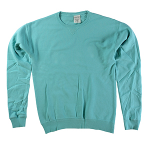 RGRiley | Mens Comfort Wash Mint Crew Sweatshirts | Irregular