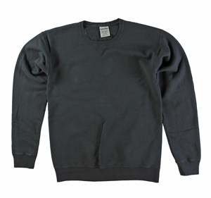 RGRiley | Mens Comfort Wash Railroad Grey Crew Sweatshirts | Irregular