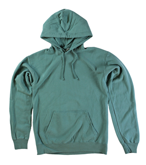 RGRiley | Mens Comfort Wash Cypress Green Pullover Sweatshirts | Irregular