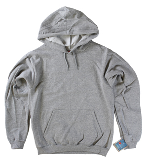 RGRiley | Mens Grey Heather Fleece Pullover Hooded Sweatshirts | Closeout