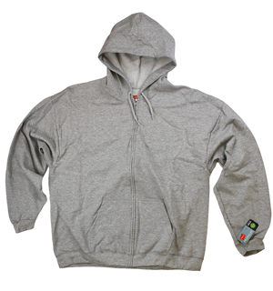 RGRiley | Mens Grey Heather Fleece Zipper Hooded Sweatshirts | Closeout