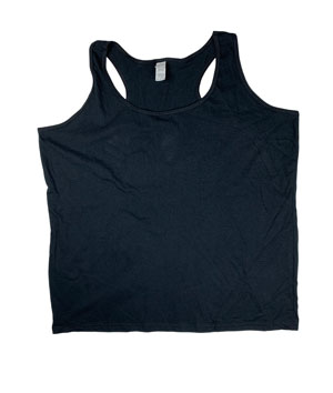RGRiley | Gilden Ladies Black Racer Back Tank Tops | Mill Graded