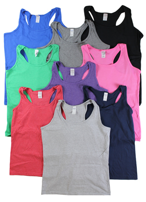 RGRiley | Gilden Ladies Racer Back Tank Tops | Mill Graded