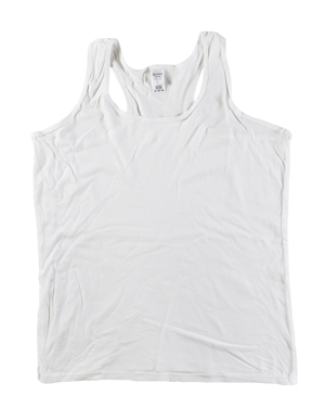 RGRiley | Gilden Ladies White Racer Back Tank Tops | Mill Graded