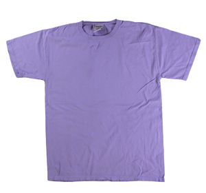 RGRiley | Mens Comfort Wash Lavender T-Shirts | Irregular