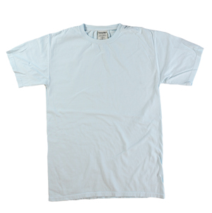 RGRiley | Mens Comfort Wash Soothing Blue T-Shirts | Irregular