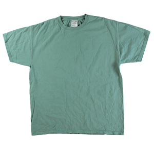 RGRiley | Mens Comfort Wash Cypress Green T-Shirts | Irregular