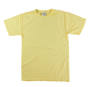 RGRiley | Mens Comfort Wash Squash Yellow T-Shirts | Irregular
