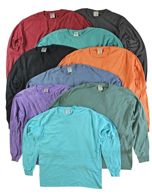 RGRiley | Mens Comfort Wash Long Sleeve T-Shirts | Irregular