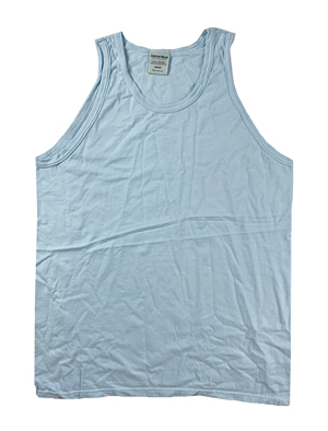 RGRiley | Mens Comfort Wash Soothing Blue Tank Tops | Slightly Irregular