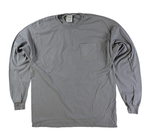 RGRiley | Mens Comfort Wash Concrete Pocket Long Sleeve T-Shirts | Irregular