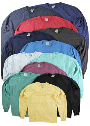 RGRiley | Mens Comfort Wash Pocket Long Sleeve T-Shirts | Irregular