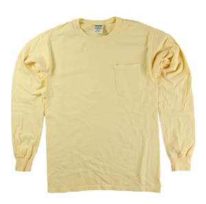 RGRiley | Mens Comfort Wash Squash Yellow Pocket Long Sleeve T's | Irregular