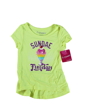 RGRiley | Hanes Girls Citrus Graphic Peplum T-Shirts | Closeout