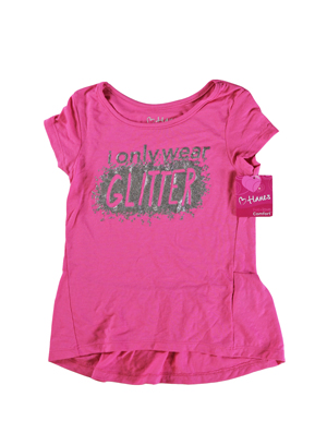 RGRiley | Hanes Girls Pinksicle Graphic Peplum T-Shirts | Closeout