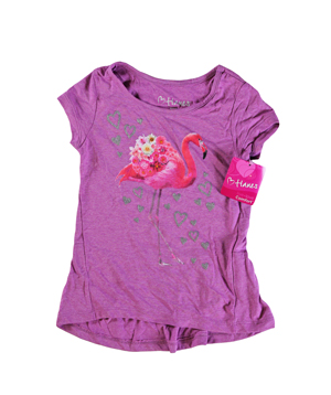 RGRiley | Hanes Girls Raspberry Graphic Peplum T-Shirts | Closeout