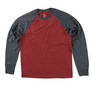 RGRiley | Adult Bulk Hanes Long Sleeve Chili/Slate T-shirts | Irregular
