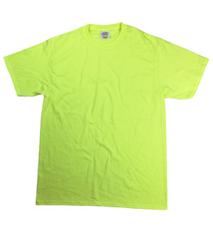 RGRiley | Mens Safety Green Short Sleeve T-Shirts | Imperfect