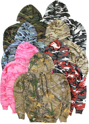RGRiley | Mens Fleece Camouflage Hoodies | Imperfect