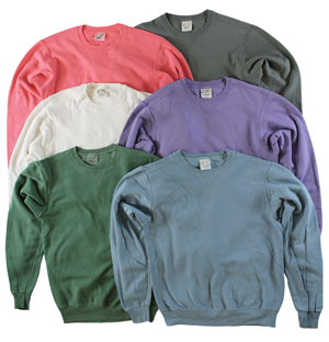 RGRiley | Mens Garment Dye Crew Neck Sweatshirts | Imperfect