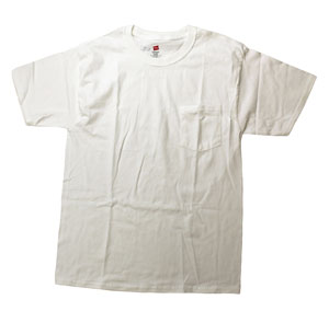 RGRiley | Mens White Pocket T-Shirts | Imperfect