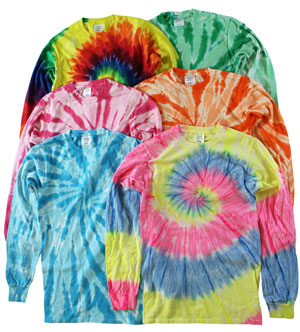 RGRiley | Mens Long Sleeve Tie Dye T-Shirts | Imperfect