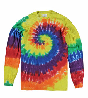 RGRiley | Mens Rainbow Swirl Long Sleeve Tie Dye T-Shirts | Imperfects & Thirds
