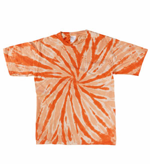 RGRiley | (*3rds) Boys Orange Long Sleeve Tie Dye T-Shirts | Imperfect