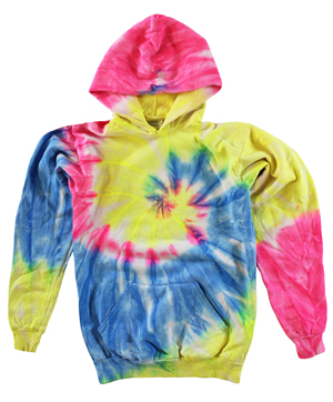 RGRiley | Boys Neon Rainbow Tie Dye Pullover Hoodies | Imperfects & Thirds