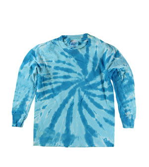 RGRiley | Boys Blue Swirl Long Sleeve Tie Dye T-Shirts | Imperfects & Thirds