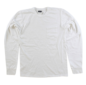 RGRiley | Mens White Pigment Dye Long Sleeve T-Shirts | Imperfect & Thirds