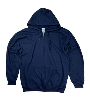 RGRiley | Gildan Mens Navy Zipper Hooded Sweatshirts | Imperfects & Thirds