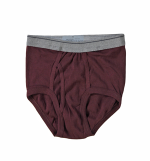 RGRiley | (*3rds*)Youth Burgundy Brief Underwear | Imperfects