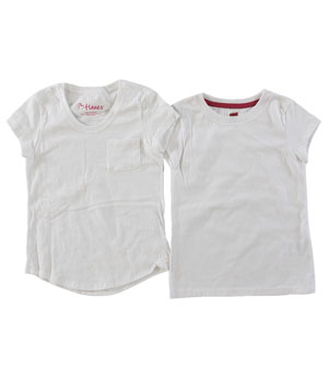 RGRiley | Girls White  Assorted Style Short Sleeve T-Shirts | Imperfect