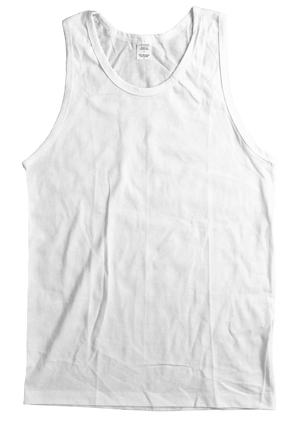 RGRiley | Mens White Sleeveless T-Shirts | Imperfect